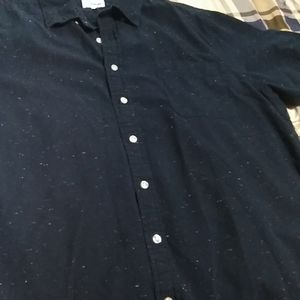 Men blue short sleeve shirt